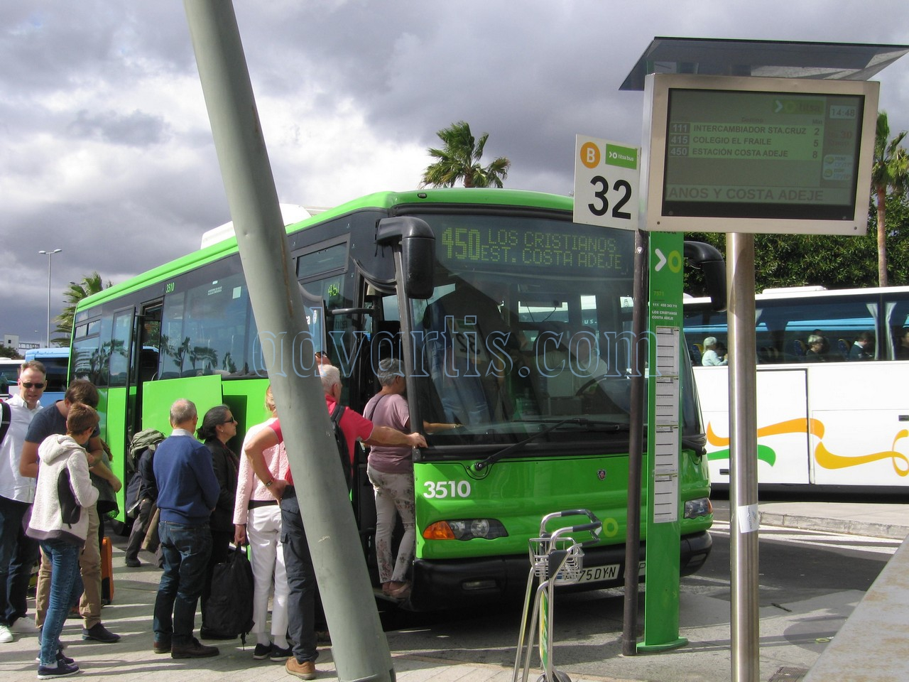 Tenerife bus in Tenerife South airport